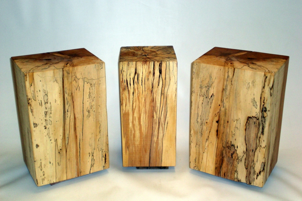 Spalted Maple End Tables