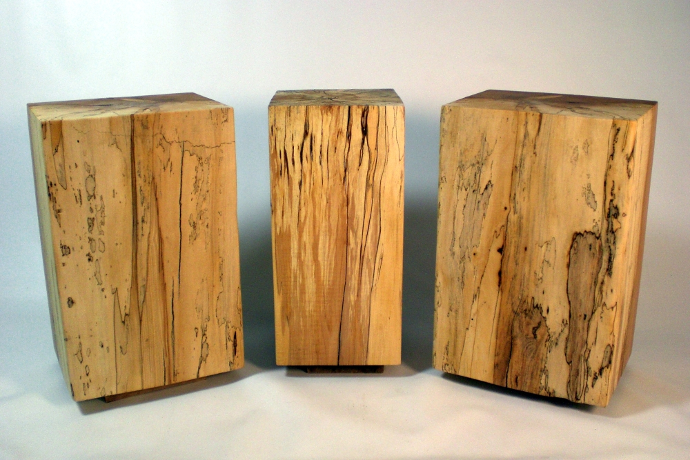 Exceptionnel Spalted Maple End Tables